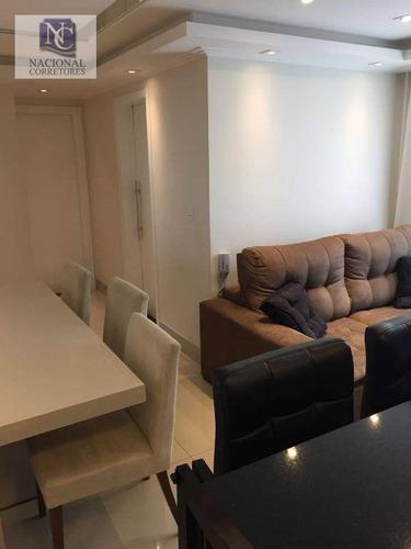 apartamento com 2 dormitórios para alugar, 51 m² por r$ 1.500/mês - vila floresta - santo andré/sp - ap6707