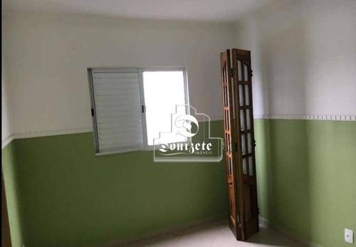 apartamento com 2 dormitórios para alugar, 52 m² por r$ 1.000/mês - vila lutécia - santo andré/sp - ap10543