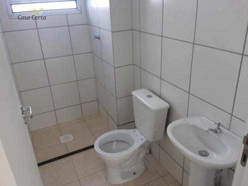 apartamento com 2 dormitórios para alugar, 52 m² por r$ 660/mês - jardim santa terezinha - mogi guaçu/sp - ap0151