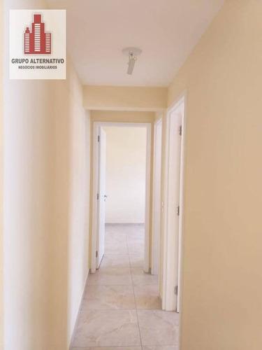 apartamento com 2 dormitórios para alugar, 55 m² por r$ 1.280/mês - vila augusta - guarulhos/sp - ap1065
