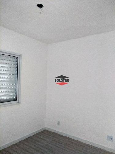 apartamento com 2 dormitórios para alugar, 55 m² por r$ 900/mês - residencial dona margarida - santa bárbara d'oeste/sp - ap0069