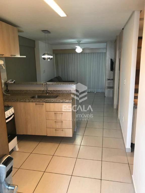 apartamento com 2 dormitórios para alugar, 56 m² por r$ 150/mês - meireles - fortaleza/ce - ap1618