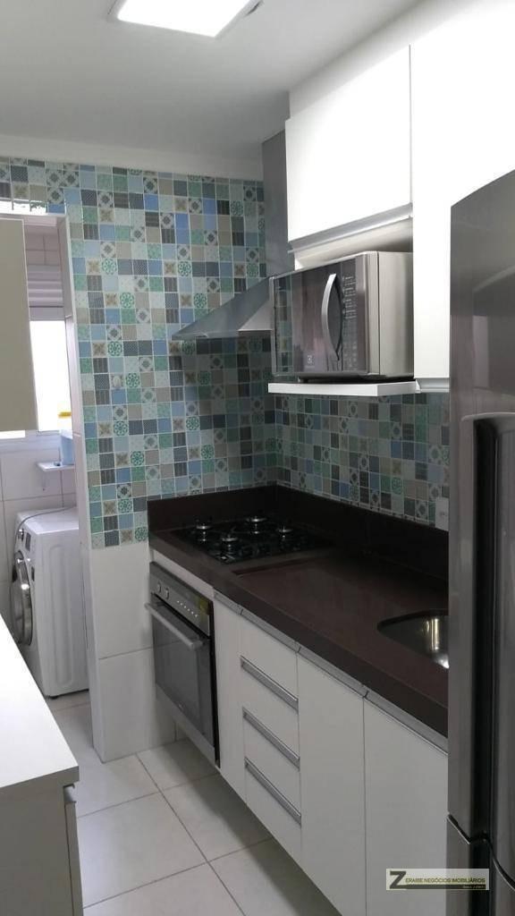 apartamento com 2 dormitórios para alugar, 56 m² por r$ 2.150/mês - vila augusta - guarulhos/sp - ap0446