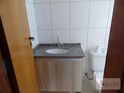 apartamento com 2 dormitórios para alugar, 58 m² por r$ 670/mês - jardim marajoara - nova odessa/sp - ap3555