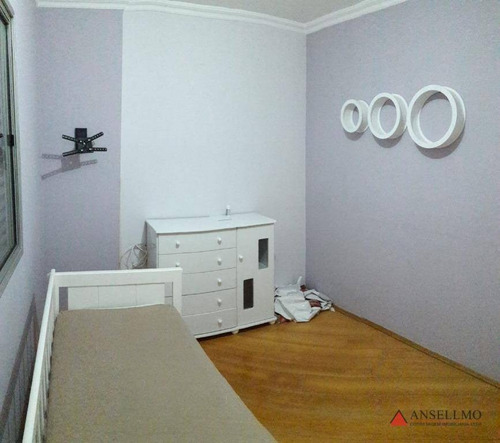 apartamento com 2 dormitórios para alugar, 59 m² por r$ 1.200,00/mês - santa terezinha - são bernardo do campo/sp - ap1440