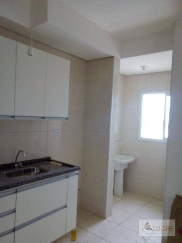apartamento com 2 dormitórios para alugar, 60 m² - jardim capuava - nova odessa/sp - ap6519