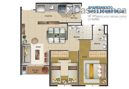 apartamento com 2 dormitórios para alugar, 60 m² - jardim piratininga - sorocaba/sp - ap7127
