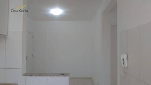 apartamento com 2 dormitórios para alugar, 60 m² por r$ 650/mês - jardim novo ii - mogi guaçu/sp - ap0140