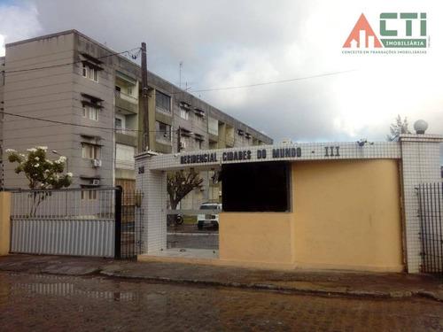 apartamento com 2 dormitórios para alugar, 60 m² por r$ 850/mês - várzea - recife/pe - ap0986