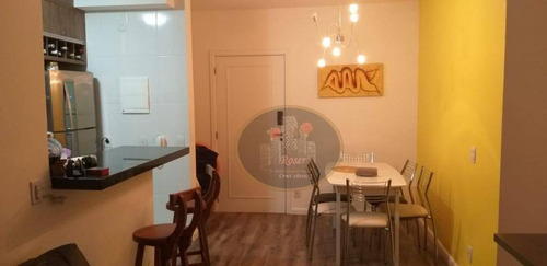 apartamento com 2 dormitórios para alugar, 64 m² por r$ 2.900/mês - marapé - santos/sp - ap4016