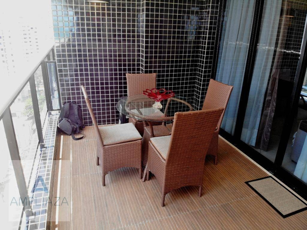 apartamento com 2 dormitórios para alugar, 66 m² por r$ 4.200,00/mês - meireles - fortaleza/ce - ap0478