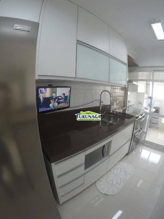 apartamento com 2 dormitórios para alugar, 70 m² opção mobiliado ou não - vila augusta - guarulhos/sp - ap1370