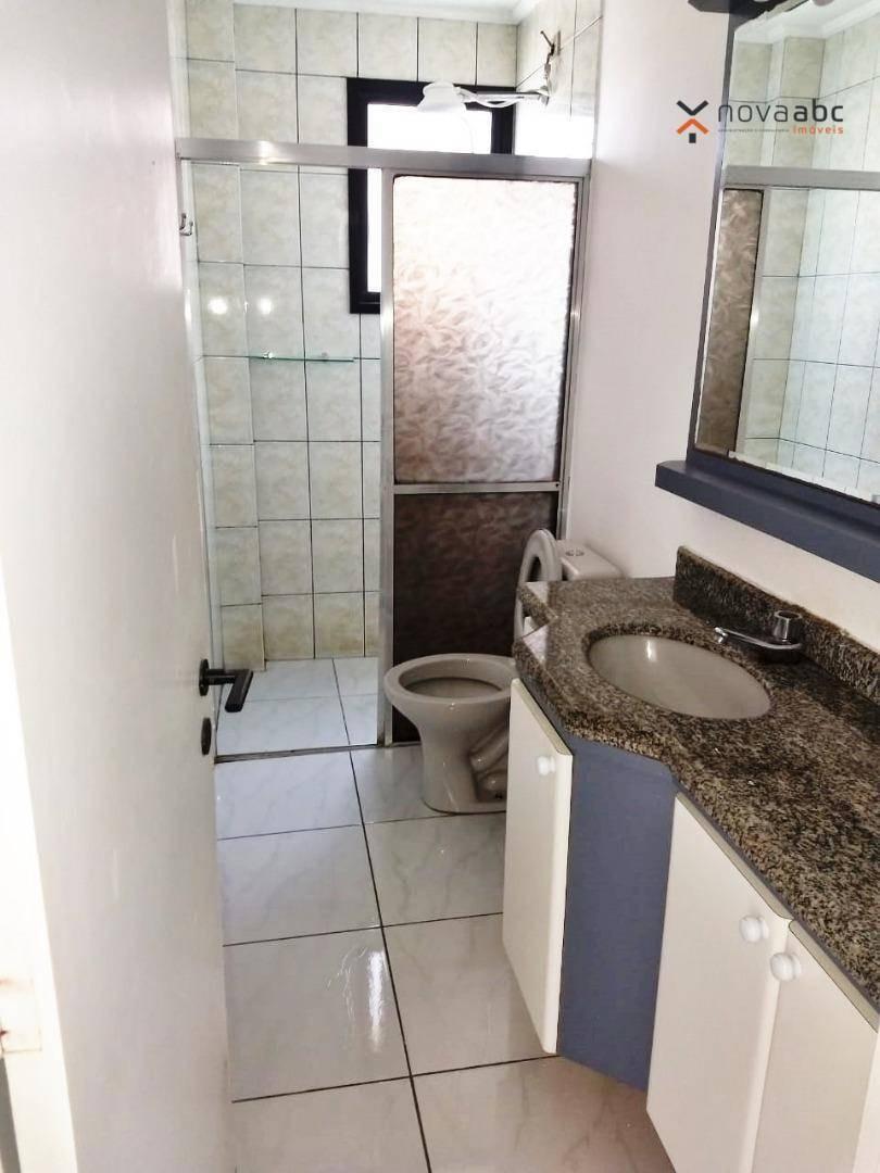 apartamento com 2 dormitórios para alugar, 77 m² por r$ 2.000/mês - jardim bela vista - santo andré/sp - ap0606