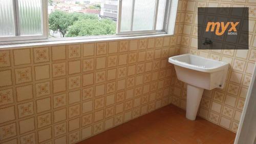 apartamento com 2 dormitórios para alugar, 85 m² por r$ 2.200/mês - campo grande - santos/sp - ap5398