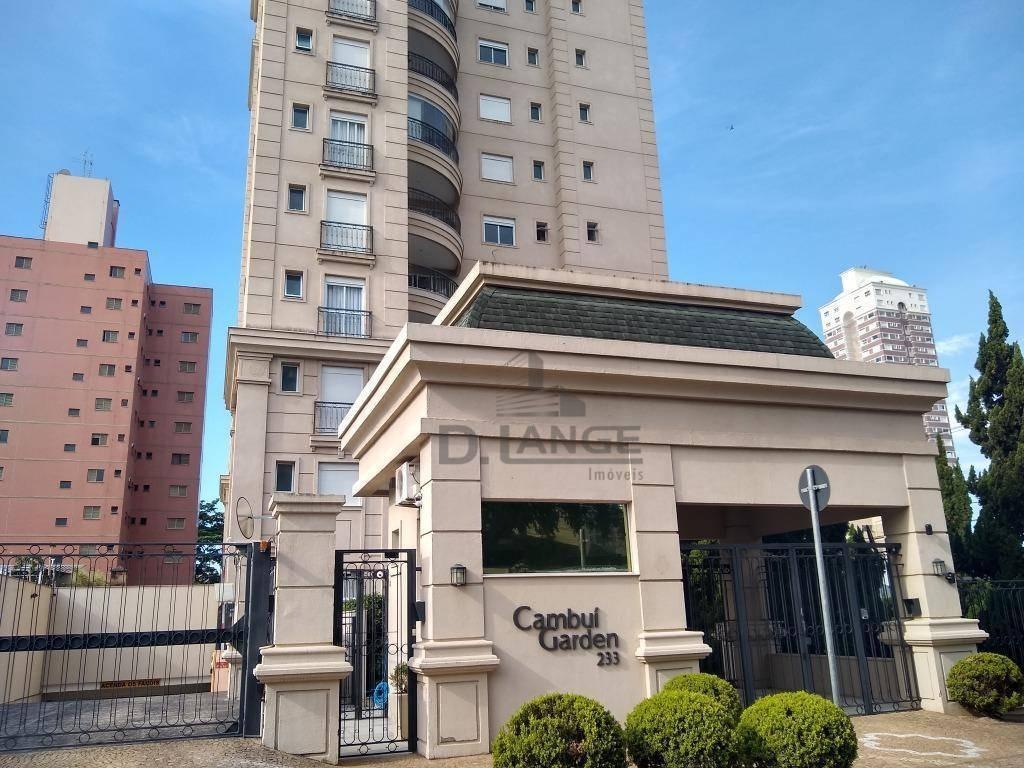 apartamento com 2 dormitórios para alugar, 92 m² por r$ 4.500/mês - cambuí - campinas/sp - ap18458