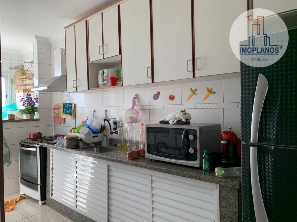 apartamento com 2 dormitórios à venda, 100 m² por r$ 400.000 - vila guilhermina - praia grande/sp - ap11638
