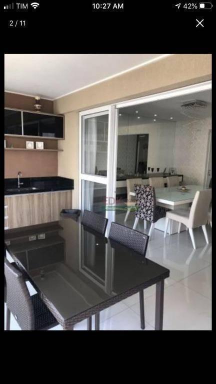 apartamento com 2 dormitórios à venda, 100 m² por r$ 565.000 - jardim das indústrias - são josé dos campos/sp - ap3802