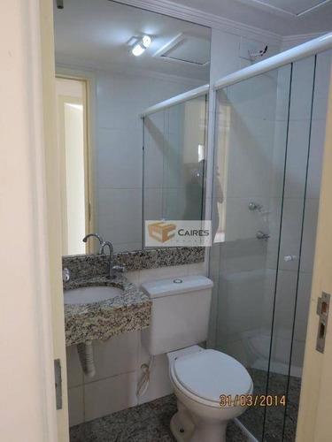 apartamento com 2 dormitórios à venda, 10384 m² por r$ 295.000 - jardim nova europa - campinas/sp - ap5468