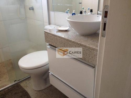 apartamento com 2 dormitórios à venda, 110 m² por r$ 330.000,00 - jardim nova europa - campinas/sp - ap5117