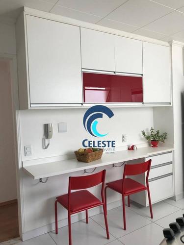 apartamento com 2 dormitórios à venda, 115 m² por r$ 550.000 - jardim das colinas - são josé dos campos/sp - ap1167