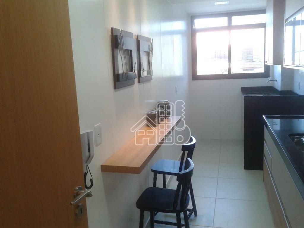 apartamento com 2 dormitórios à venda, 120 m² por r$ 809.000,00 - piratininga - niterói/rj - ap2699