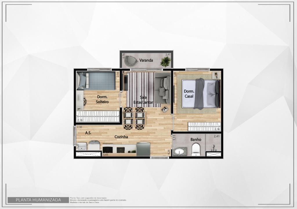apartamento com 2 dormitórios à venda, 35 m² por r$ 159.000 - itaquera - são paulo/sp - ap2576