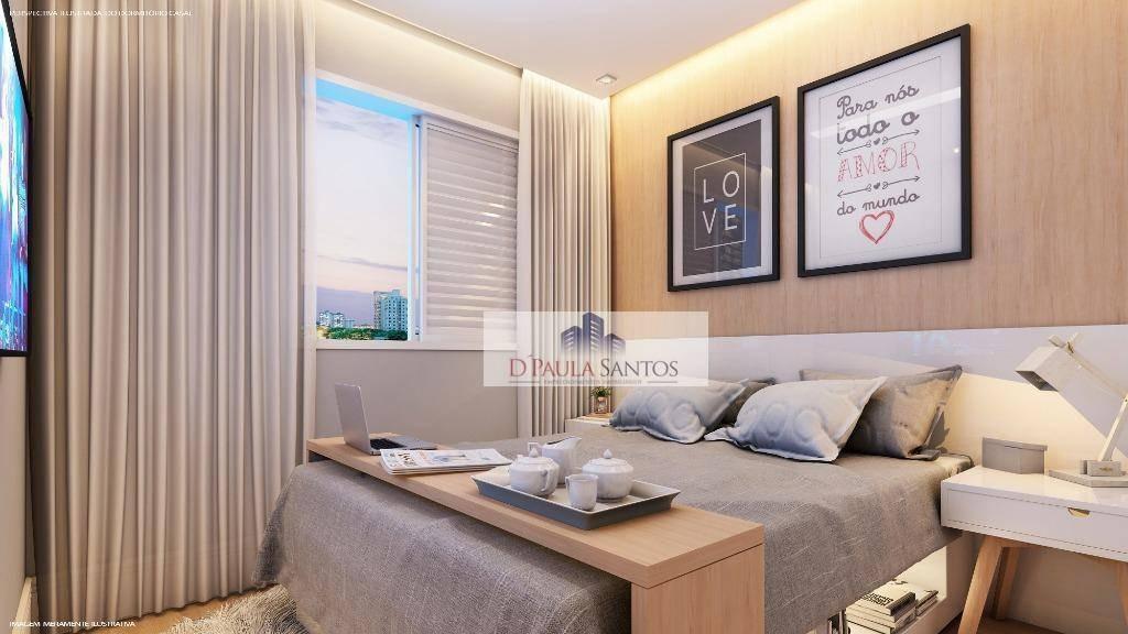 apartamento com 2 dormitórios à venda, 35 m² por r$ 159.000 - vila carmosina - são paulo/sp - ap0224