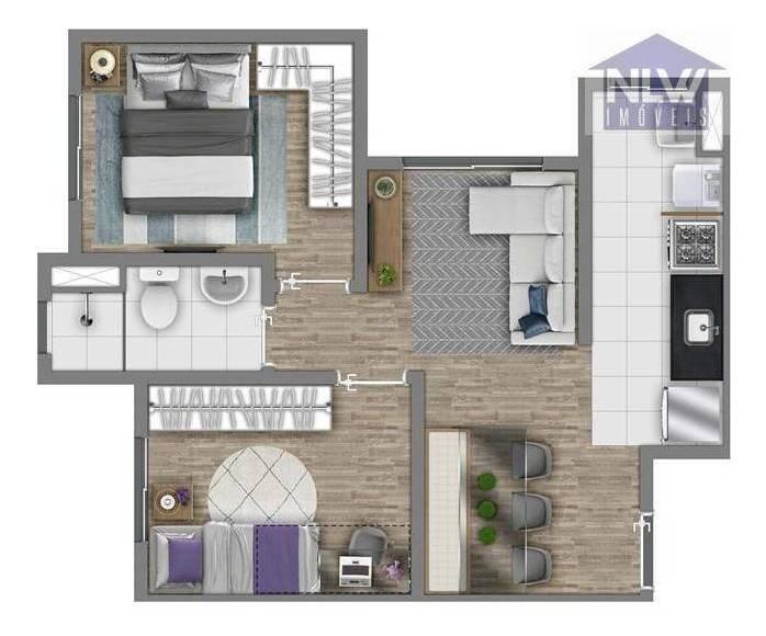 apartamento com 2 dormitórios à venda, 41 m² por r$ 218.400 - jardim monte alegre - taboão da serra/sp - ap1912