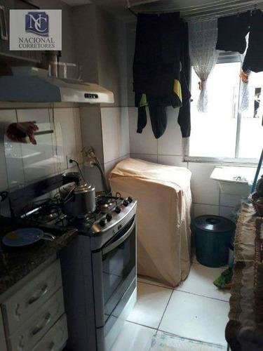 apartamento com 2 dormitórios à venda, 42 m² por r$ 130.000 - jardim alzira franco - santo andré/sp - ap8081
