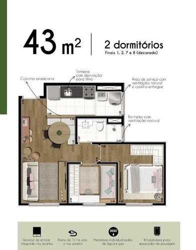 apartamento com 2 dormitórios à venda, 43 m² por r$ 204.190,00 - santo amaro - são paulo/sp - ap12036
