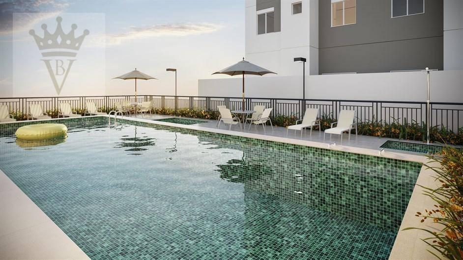 apartamento com 2 dormitórios à venda, 43 m² por r$ 218.900 - jardim monte alegre - taboão da serra/sp - ap3233