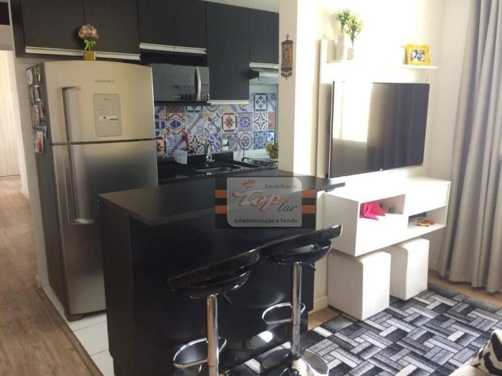 apartamento com 2 dormitórios à venda, 43 m² por r$ 220.000 - parque nações unidas - são paulo/sp - ap0999
