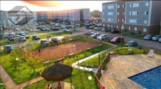 apartamento com 2 dormitórios à venda, 43 m² por r$ 60.407,82 - jardim santa marta - sertãozinho/sp - ap2441