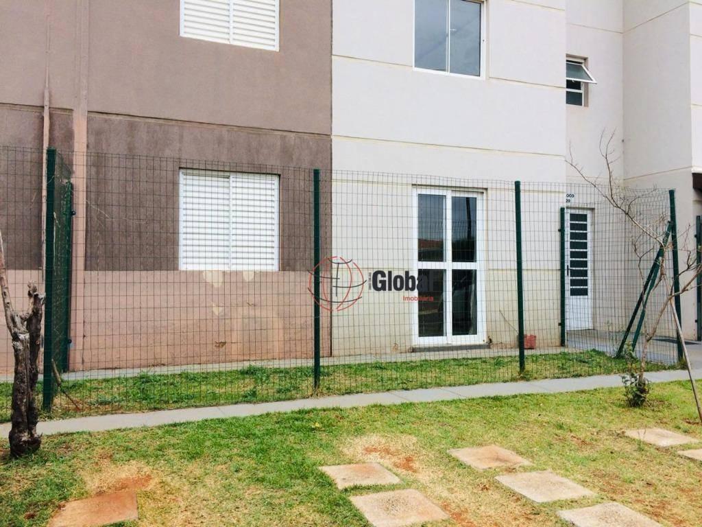 apartamento com 2 dormitórios à venda, 44 m² por r$ 169.000 - residencial real parque sumaré - sumaré/sp - ap0442