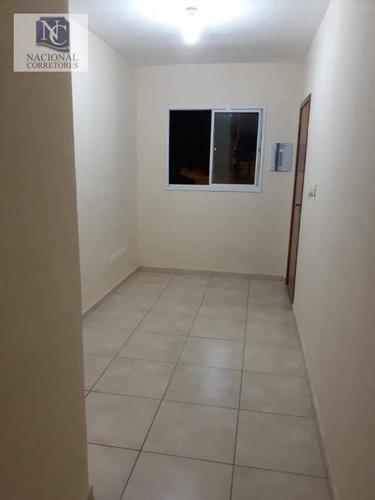 apartamento com 2 dormitórios à venda, 44 m² por r$ 190.000 - vila silvestre - santo andré/sp - ap6744