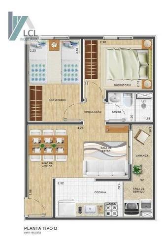 apartamento com 2 dormitórios à venda, 44 m² por r$ 200.000,00 - jardim umarizal - são paulo/sp - ap0082