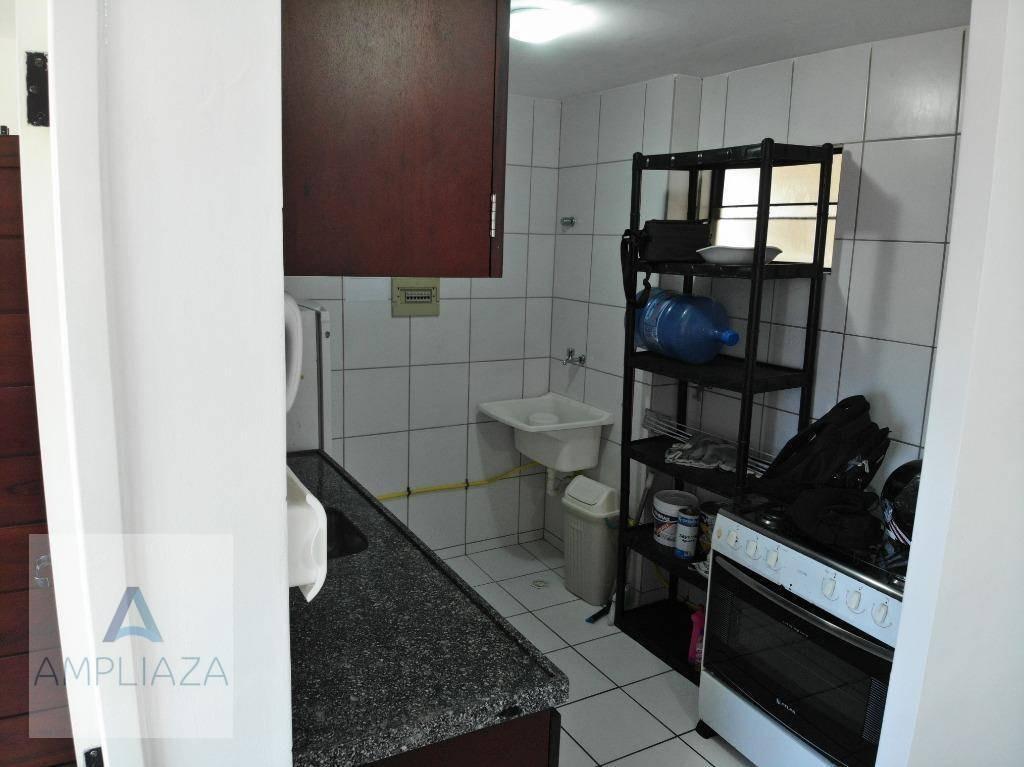 apartamento com 2 dormitórios à venda, 45 m² por r$ 250.000,00 - praia de iracema - fortaleza/ce - ap0696