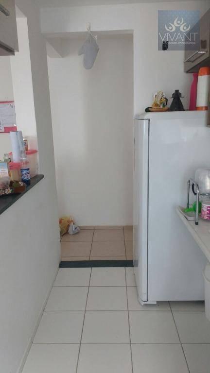 apartamento com 2 dormitórios à venda, 46 m² por r$ 170.000,00 - jardim são luís - suzano/sp - ap0111