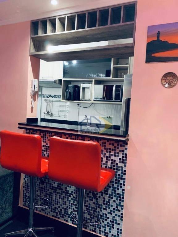 apartamento com 2 dormitórios à venda, 46 m² por r$ 200.000 - jardim são luís - suzano/sp - ap0199