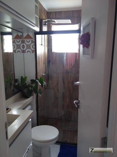 apartamento com 2 dormitórios à venda, 47 m² por r$ 200.000 / r$1.000,00 mês- vila alzira - guarulhos/sp - ap0323
