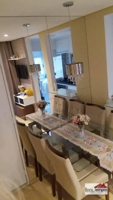 apartamento com 2 dormitórios à venda, 48 m² por r$ 210.000,00 - jardim são miguel - ferraz de vasconcelos/sp - ap4036