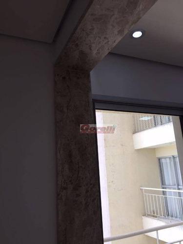 apartamento com 2 dormitórios à venda, 48 m² por r$ 220.000 - vila são carlos - itaquaquecetuba/sp - ap0317