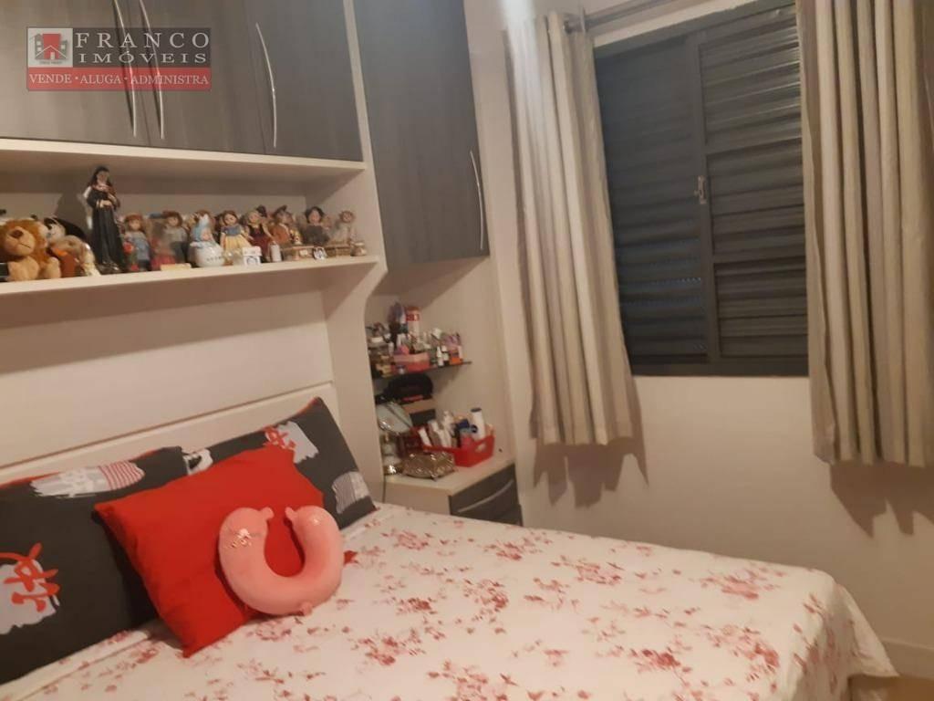 apartamento com 2 dormitórios à venda, 48 m² por r$ 250.000 - condomínio alvorada ii - valinhos/sp - ap0298