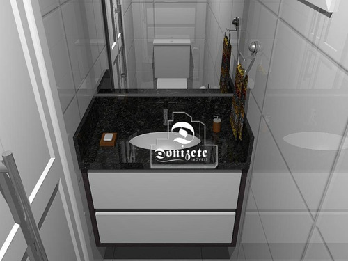 apartamento com 2 dormitórios à venda, 48 m² por r$ 274.000,00 - vila bastos - santo andré/sp - ap7669