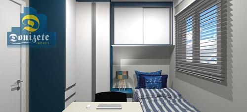 apartamento com 2 dormitórios à venda, 48 m² por r$ 276.000,00 - vila bastos - santo andré/sp - ap7672