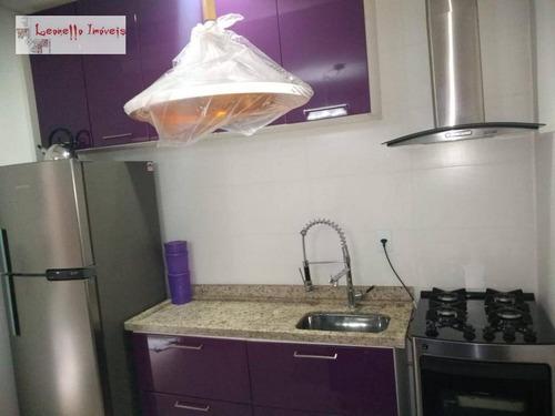apartamento com 2 dormitórios à venda, 48 m² por r$ 285.000 - vila bastos - santo andré/sp - ap0441