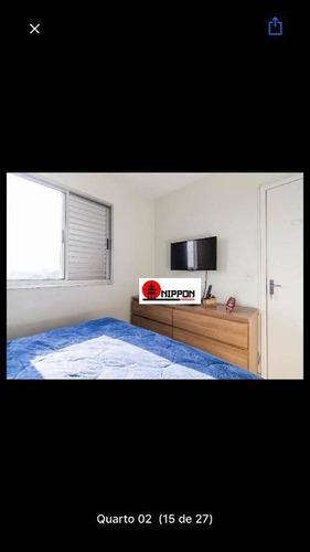 apartamento com 2 dormitórios à venda, 48 m² por r$ 339.200 - tatuapé - são paulo/sp - ap1064