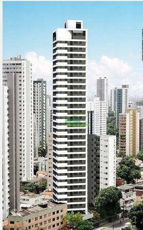 apartamento com 2 dormitórios à venda, 49 m² por r$ 295.000 - casa amarela - recife/pe - ap1284