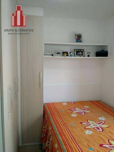 apartamento com 2 dormitórios à venda, 49 m² por r$ 299.000 - tatuapé - são paulo/sp - ap0095