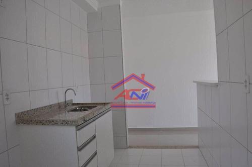apartamento com 2 dormitórios à venda, 49 m² - villa flora hortolandia - hortolândia/sp - ap0071